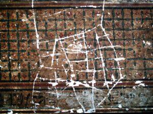 Vandalismo en el cielorraso del vestíbulo (1999)