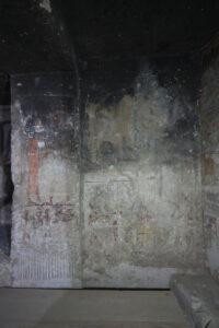 Lado norte de la pared oeste de la capilla (2013)